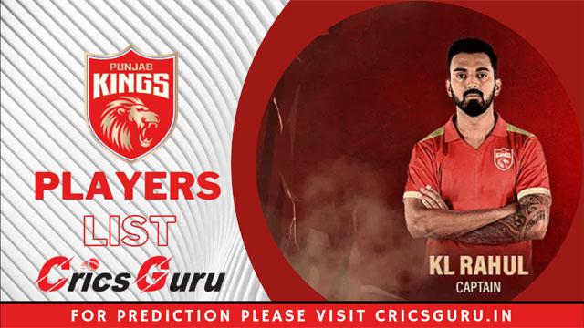 IPL 2021 KXIP Players List : Kings XI Punjab Auction